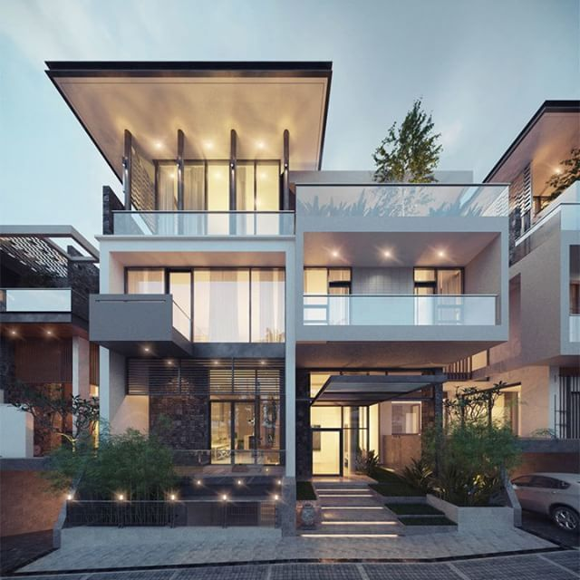 Pin By Mohamed O On Modern Villas: Pin By John Miller On Front View In 2019