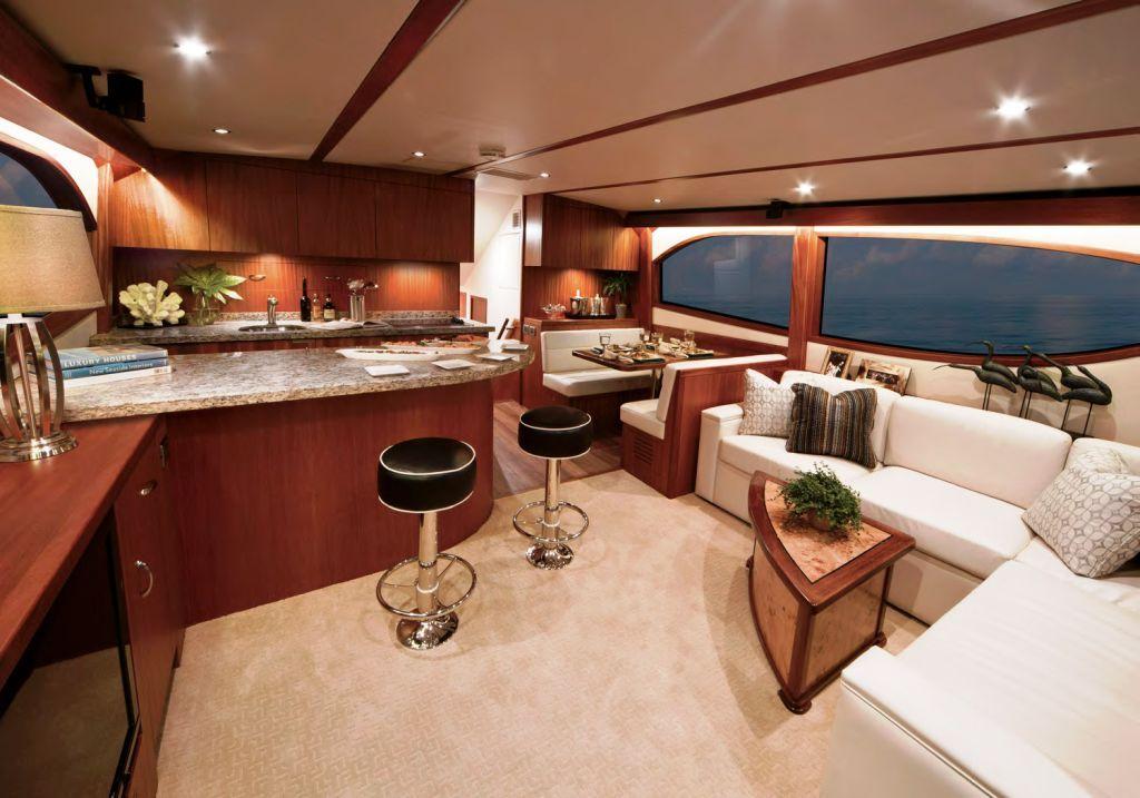 interiors of luxury yachts hatteras gt60 motor yacht