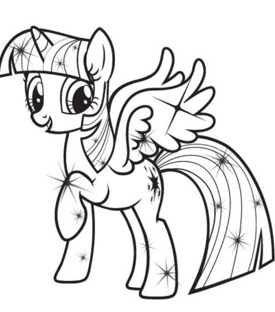Coloring Pages Of Princess Twilight Sparkle : The best my little pony coloring pages princess twilight