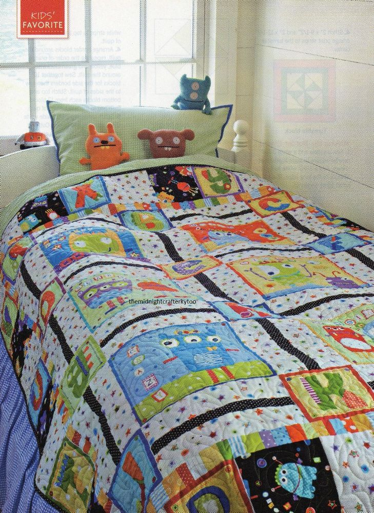 Friendly Monsters Quilt Pattern Pieced Dn Monsters Patterns And