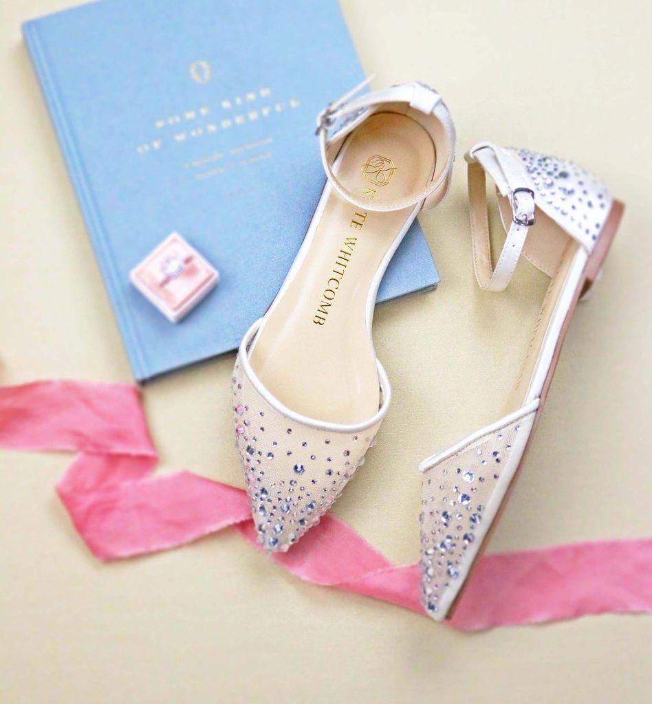 Bridal Shoes, Wedding Heels, Bride Flat, Pearl Flats