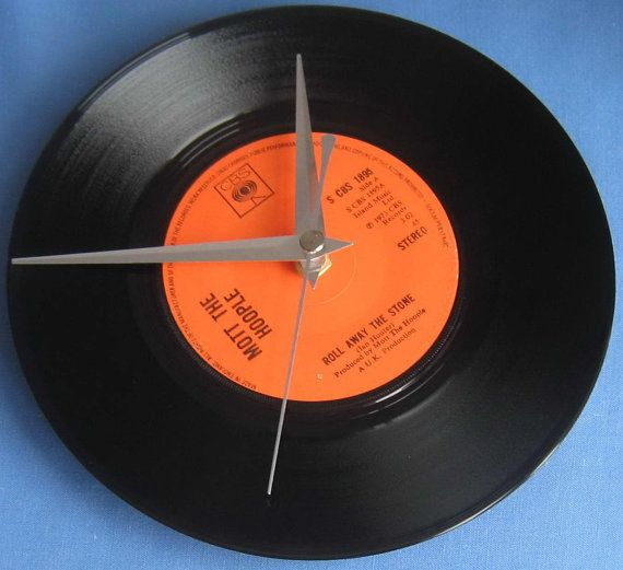 Mott The Hoople Vinyl Record Clock Roll Away By Musicclippingsuk Vinyl Record Clock Vinyl Records Record Clock
