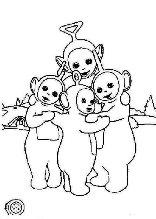 The Teletubbies Is Hugging Coloring Page : Color Luna in ...