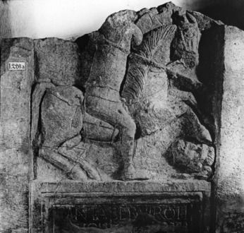 Grabdenkmal des römischen Reiters Cantaber Grabdenkmal des römischen Reiters Cantaber © Universitätsbibliothek Heidelberg