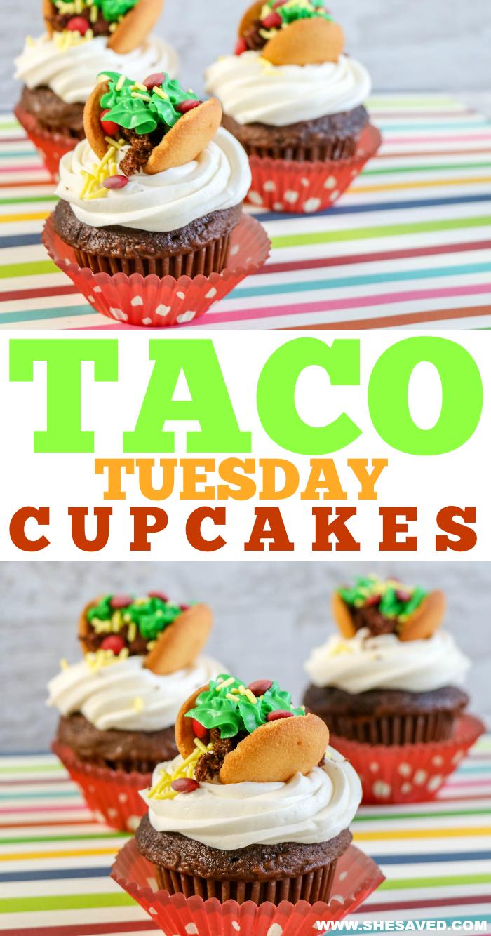 Taco Tuesday: Taco Cupcakes for Dessert! - SheSaved