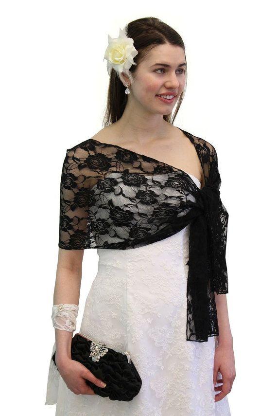 d5155707da 7 days Sale Black Bridal Lace Shawl, Wedding Shawl, Bridal Cover Up ...