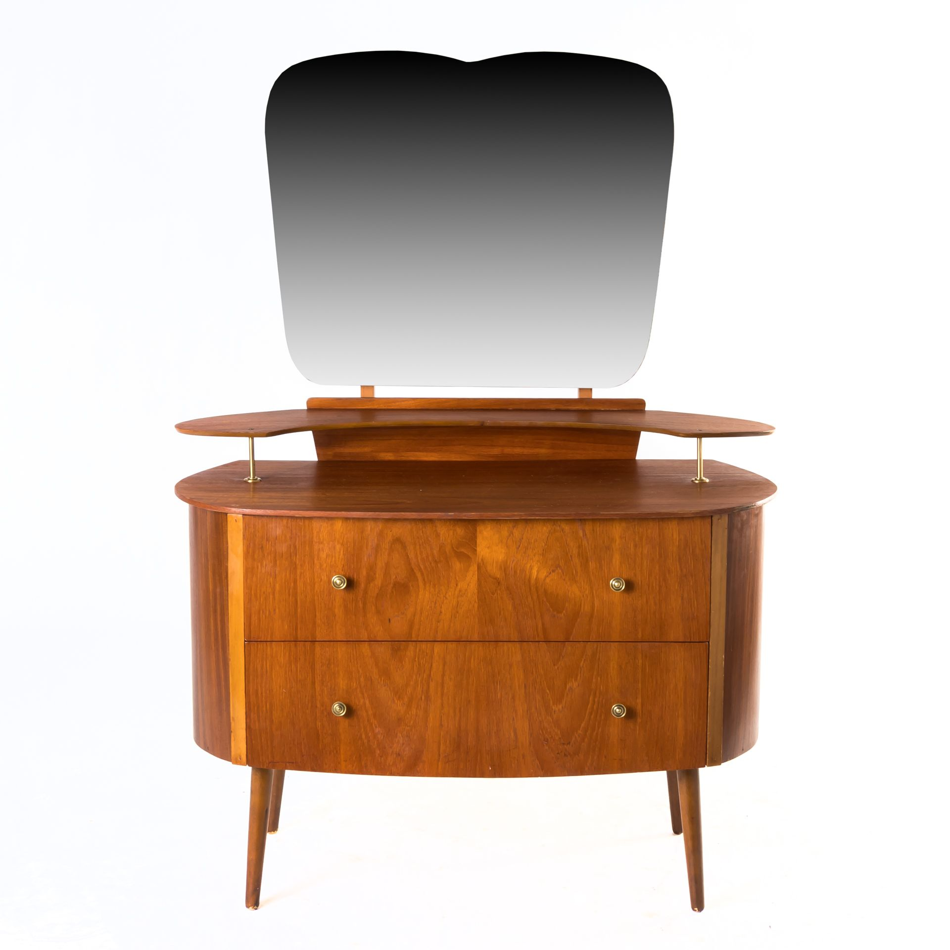 Small mid century modern vanity is adorably quaint in its atomic
