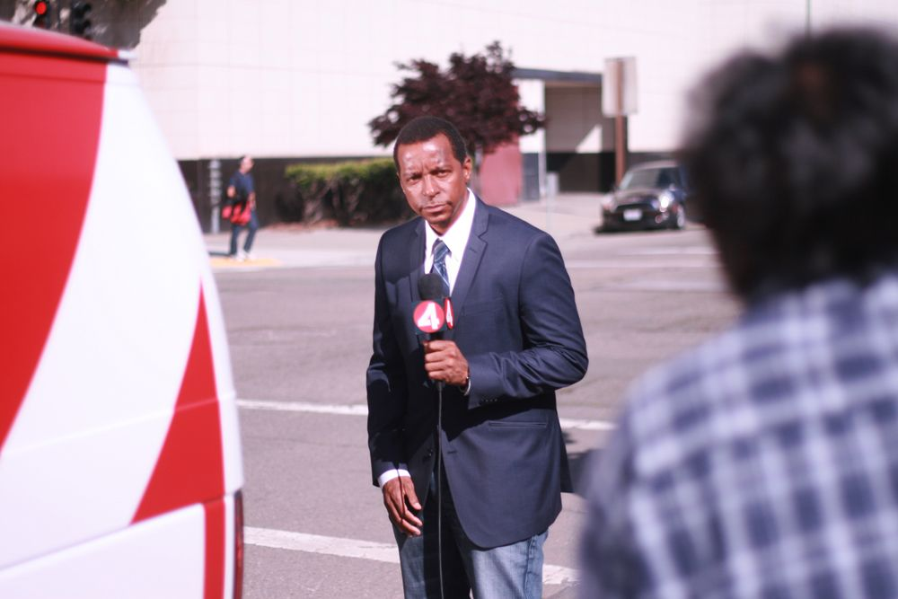 Haaziq Madyun In Front Of Of The Oakland Police Department During A Promo Shoot Police Department Oakland Francisco