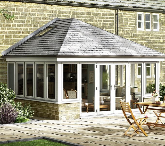 Pin By Jennifer Almond On Extension Roof Extension Tiled Conservatory Roof Garden Room Extensions