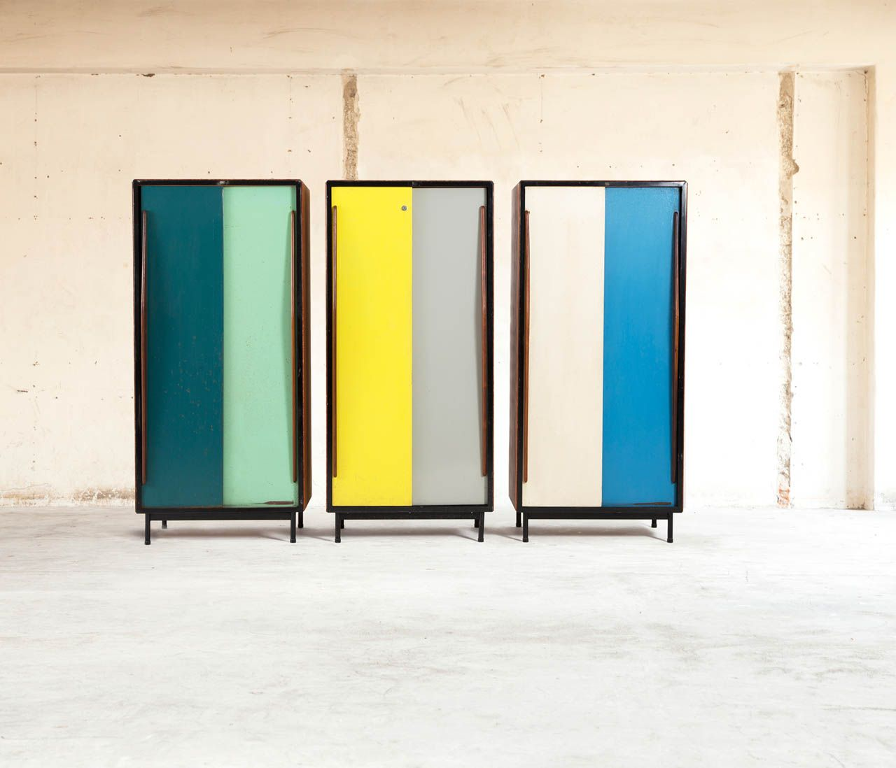 Willy van der Meeren Cabinets produced by Tubax | From a unique collection of antique and modern wardrobes and armoires at http://www.1stdibs.com/furniture/storage-case-pieces/wardrobes-armoires/