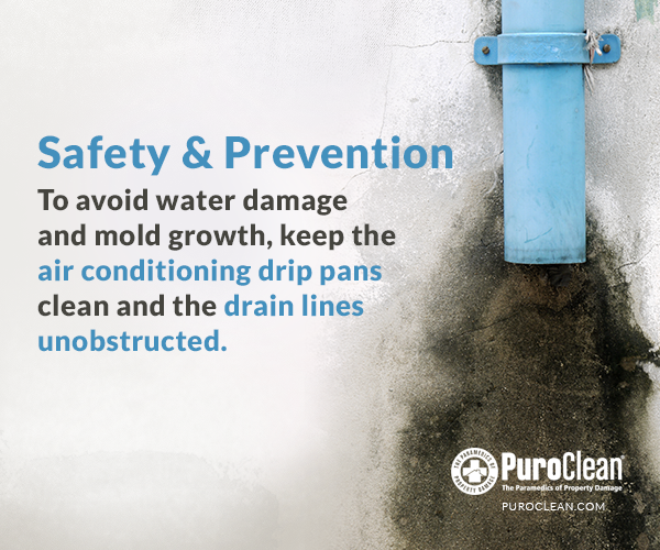 Safety & Prevention keep air conditioning drip pans clean