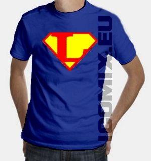 Superman Logo T-Shirt Lettre L