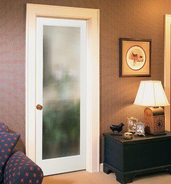 Cross Reed Decorative Glass Interior Door