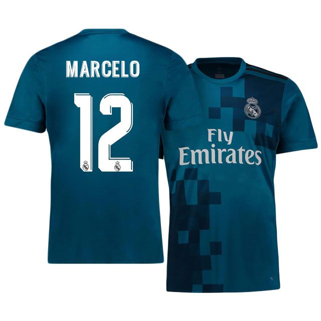 6ecad4d85 Real Madrid Jersey 17-18 marcelo Third Shirt
