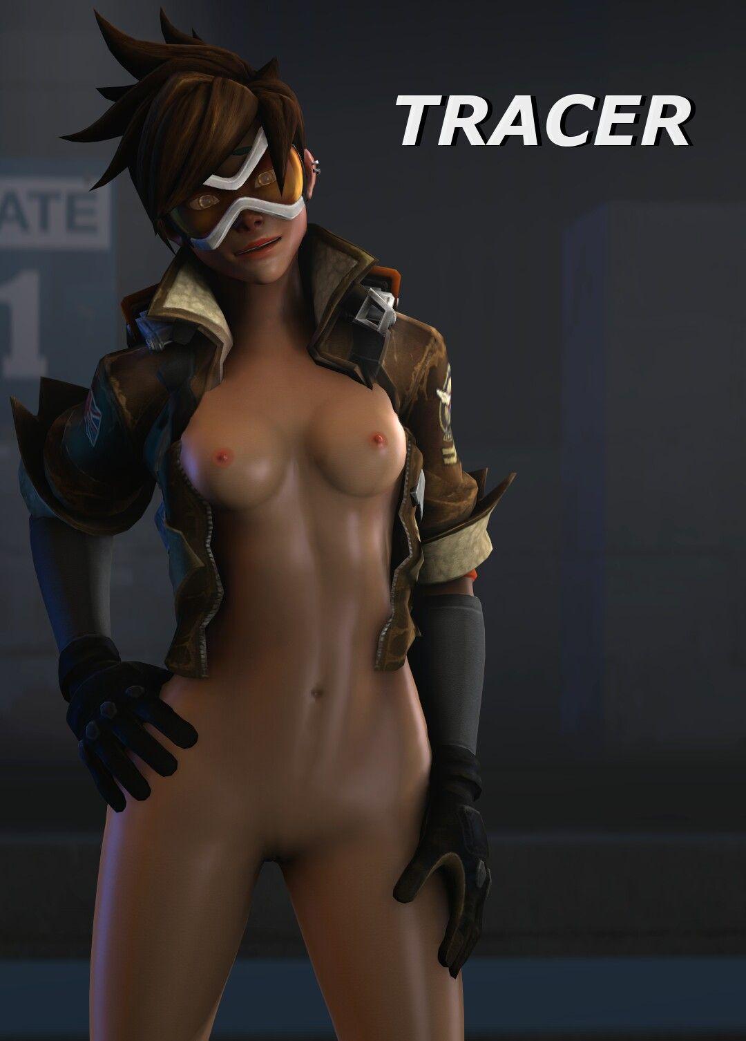 Overwatch Tracer Nackt