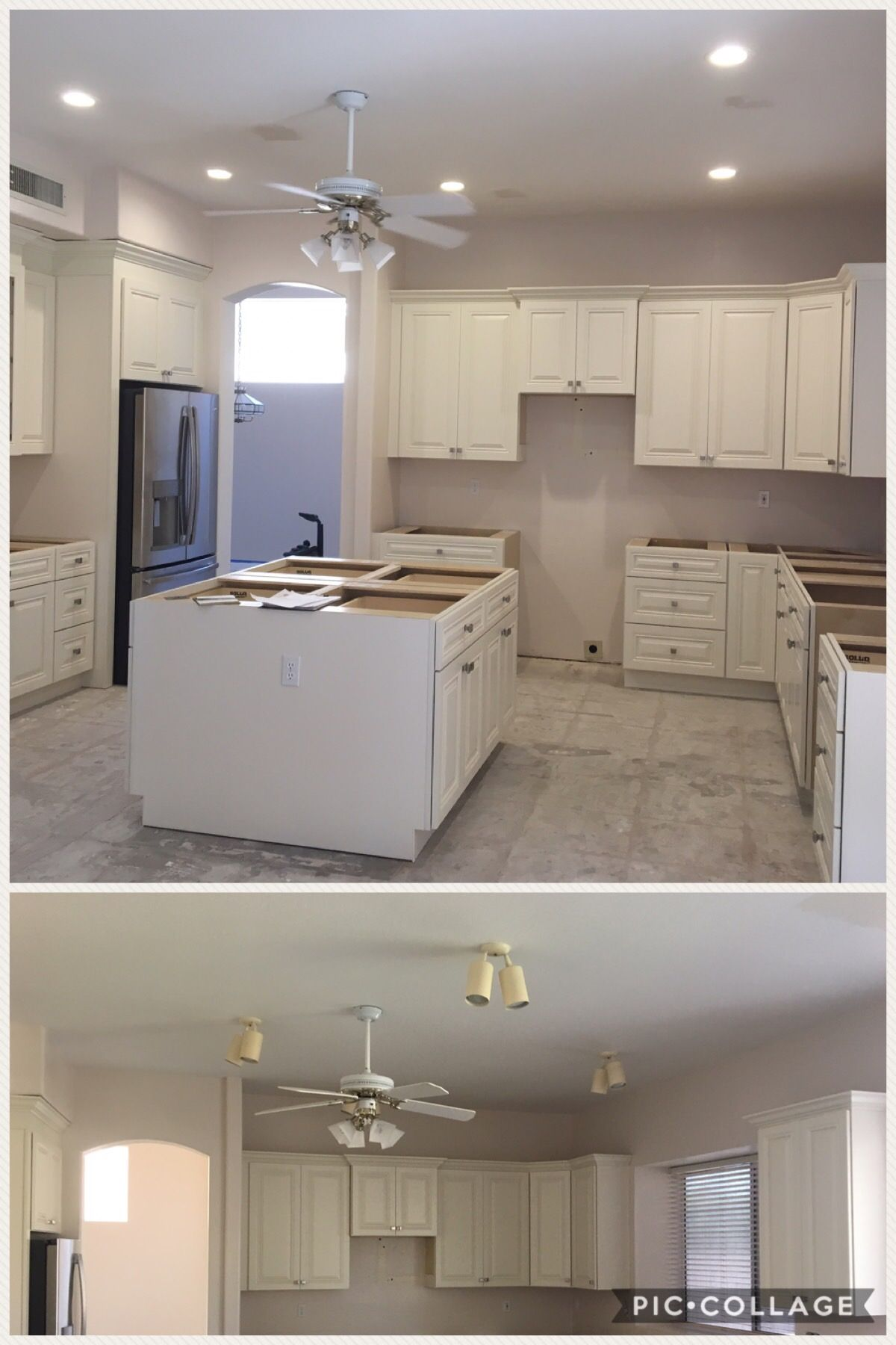 Removed Terribly Place Can Lights Redesigned Layout Installed 5 Led 6 Inch Recessed In Kitchen And Wired Island Receptacles