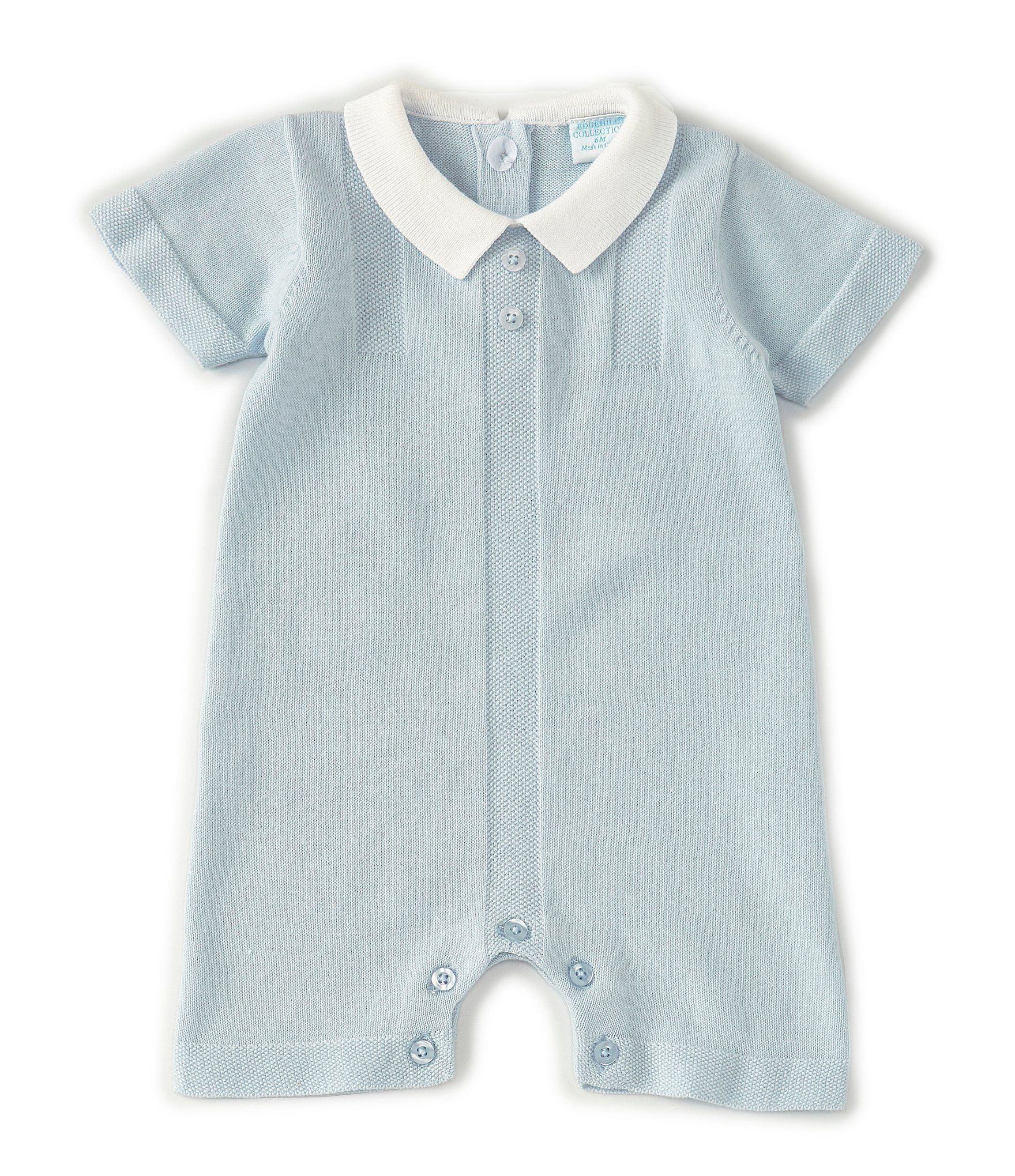 Photo of Edgehill Collection Baby Boys Newborn-6 Monate Kurzarm-Strickpullover Strampler …