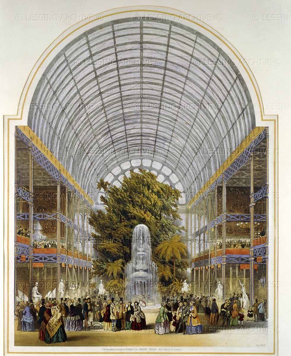 The transept, inside the Crystal Palace. From Dickinson\'s ...