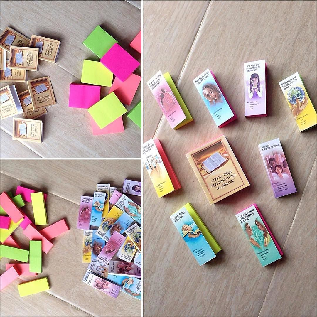Our Family Prepared These Post Its With Printed Bible Teach And Tracts Covers We Shared Them