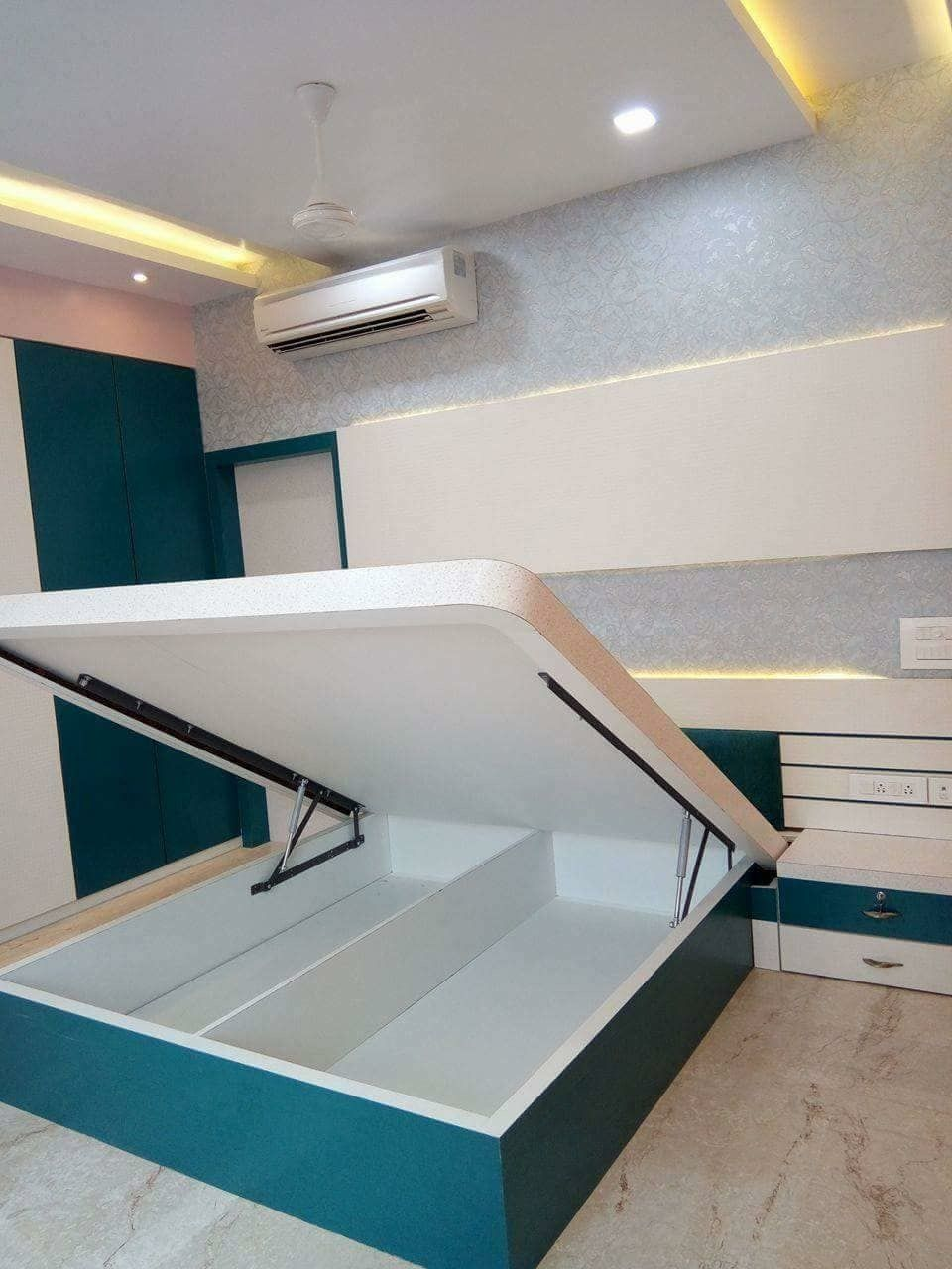 Kids Room False Ceiling Design: Tow Bed Kids 30000 Karan Jangid Salvabrani Bedroom In 2020