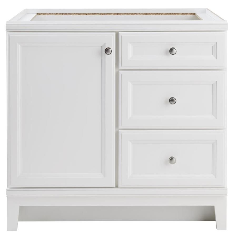 Diamond freshfit calhoun white bathroom vanity common 36 in x 21 in actual 36 in x 21 in