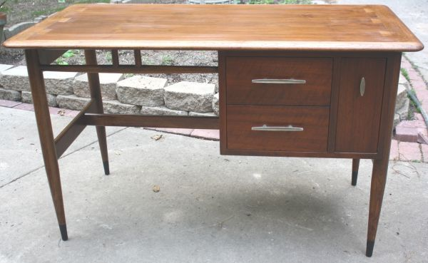 Lane Acclaim Desk Mid Century Danish Dove Tail Inlay 1950s Retro   $850  Rare Piece Of Acclaim By Lane Furniture.Made By Lane In The Late 1950u2032s, ...