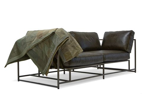 Olive Leather Two Seat Sofa rom The Inheritance Collection by ...