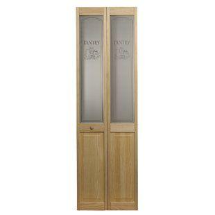 Kiby Paneled Wood Unfinished Bi Fold Door Wayfair With Images Glass Bifold Doors Bifold Door Hardware Bifold Doors