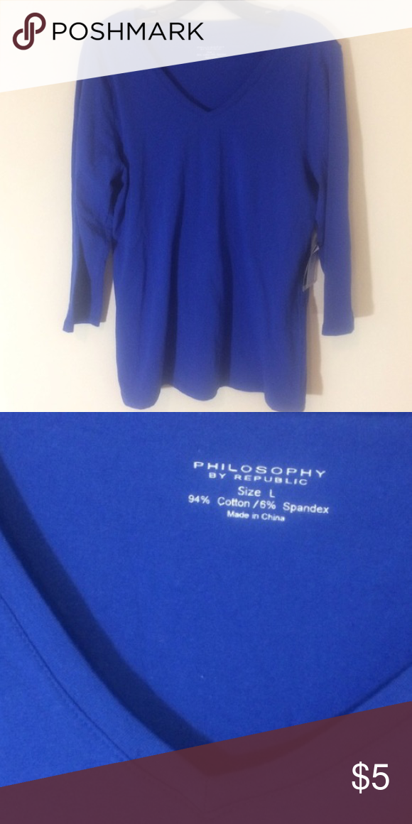 Philosophy tee In excellent condition! I have high standards and wouldn't list anything I wouldn't wear! Take advantage of the low prices and bundle to save on shipping! Philosophy Tops