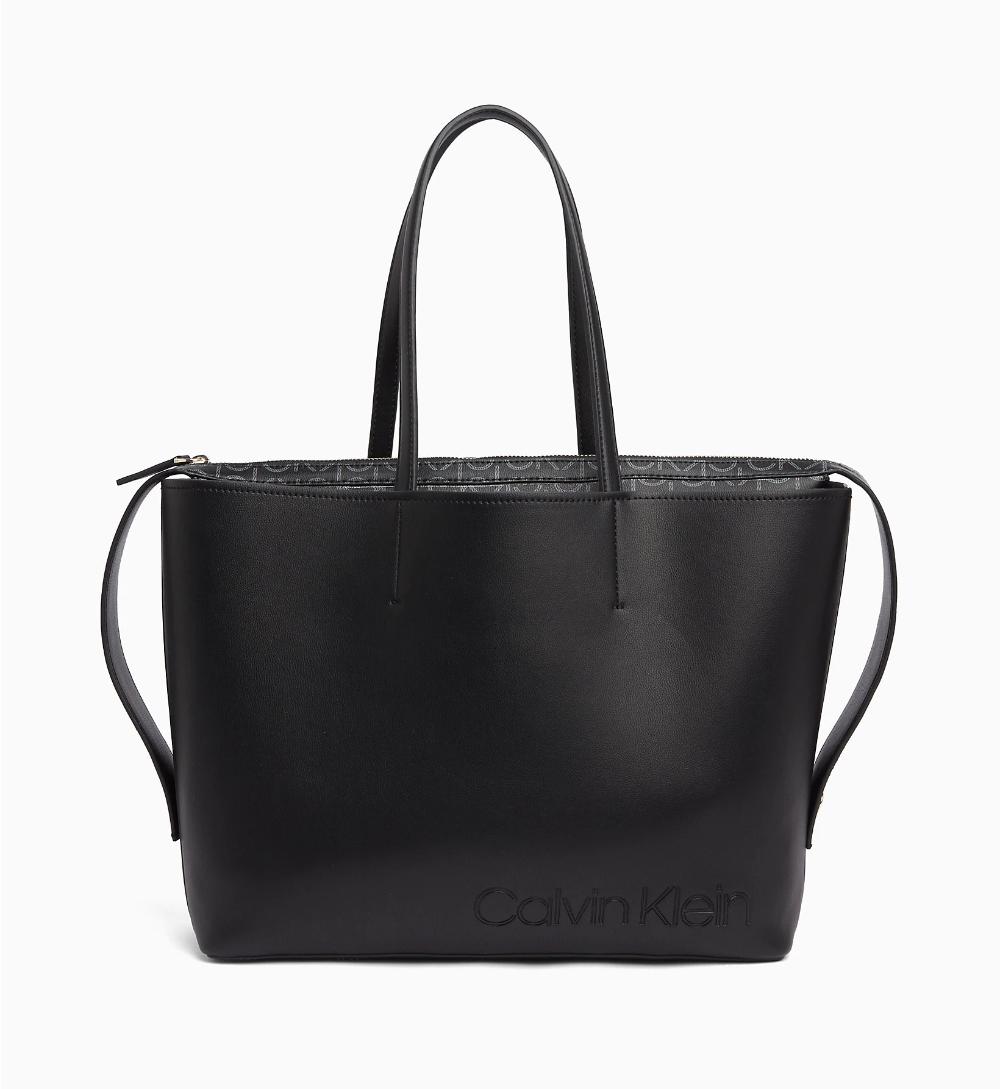 Large Tote Bag Calvin Klein K60k605654bds Large Tote Bag Bags Bags Designer