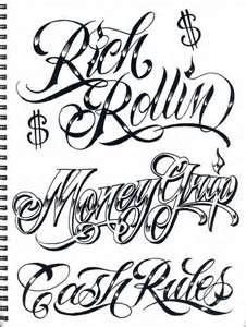 Gangster Handwriting : gangster, handwriting, Tattoo, Gangster, Letters,, Lettering, Styles,