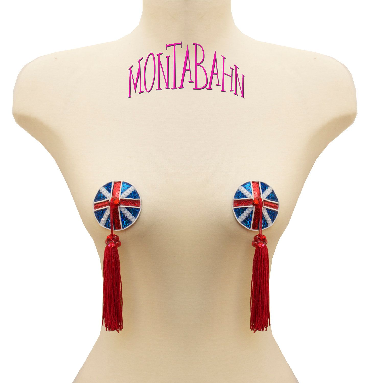 union jack england uk british flag burlesque pasties