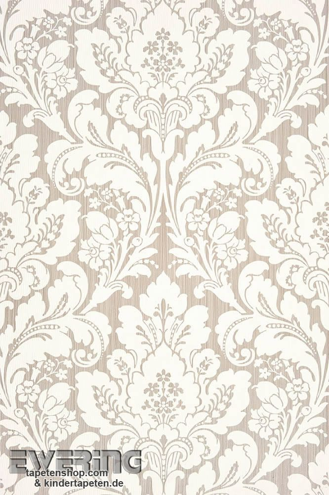 Casadeco San Marco  Smc Hell Grau Ornament Tapete