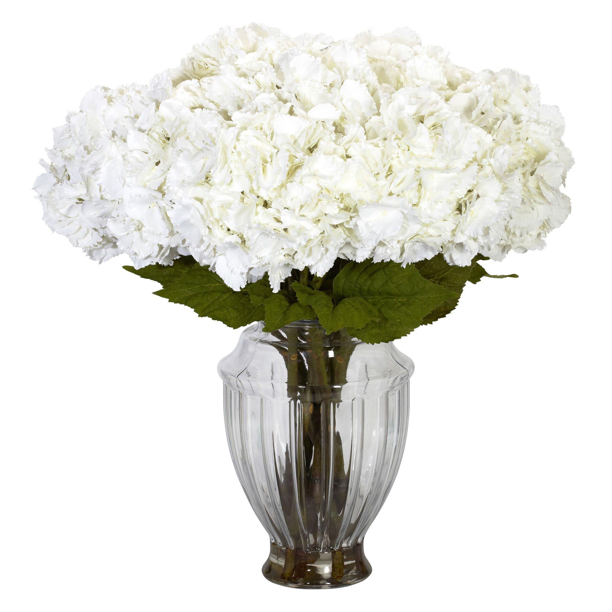 Large Hydrangea W European Vase Silk Flower Arrangement Silk Hydrangeas Arrangements Silk Flower Arrangements Hydrangea Arrangements