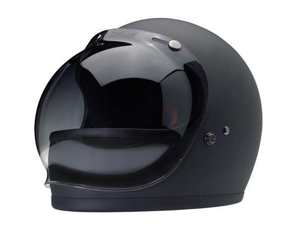 0fe6dfad Biltwell Gringo Helmet in matte black with bubble visor ...