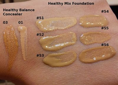 Rouge Deluxe Bourjois Radiance Reveal Healthy Mix Foundation Swatches Healthy Mix Foundation Bourjois Healthy Mix Foundation Bourjois Healthy Mix Concealer
