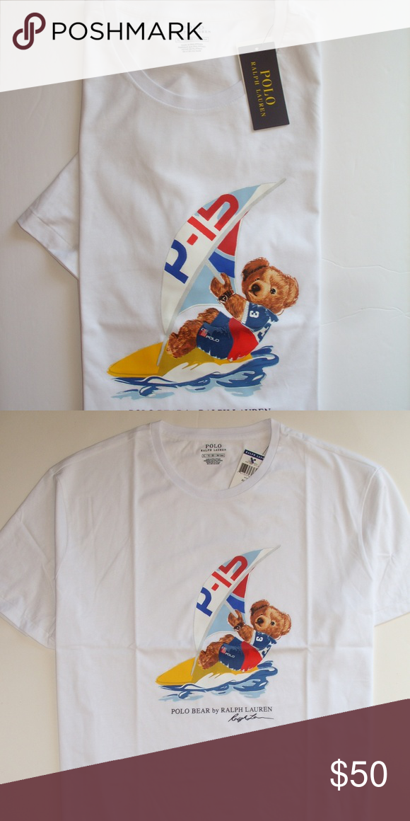 Firm Polo Tag Men With Bear New Surfbrand Price Tee Lauren Ralph exCodB
