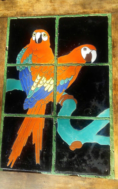 Rare Vintage California Tile Top Table CATALINA Scarlett