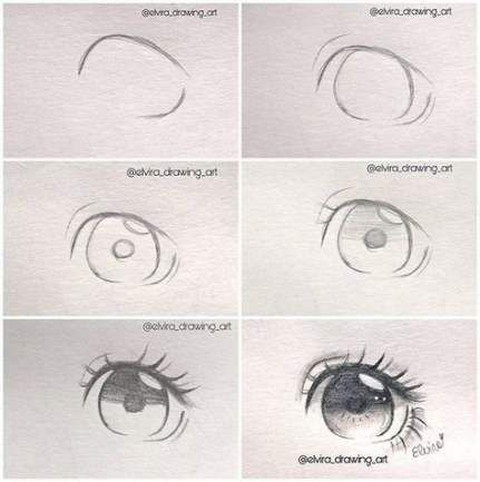 Drawing Ideas Step By Step Tutorials Anime Eyes 50 Ideas For 2019 Anime Eye Drawing Anime Drawings Sketches Eye Drawing Tutorials