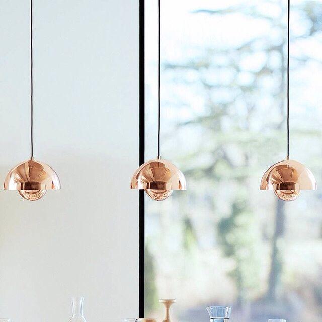Egayez Votre Salle De Reunion, Avec Les Lampes Flower Pot De Verner Panton.  Copper Pendant LightsCopper ... Design Ideas