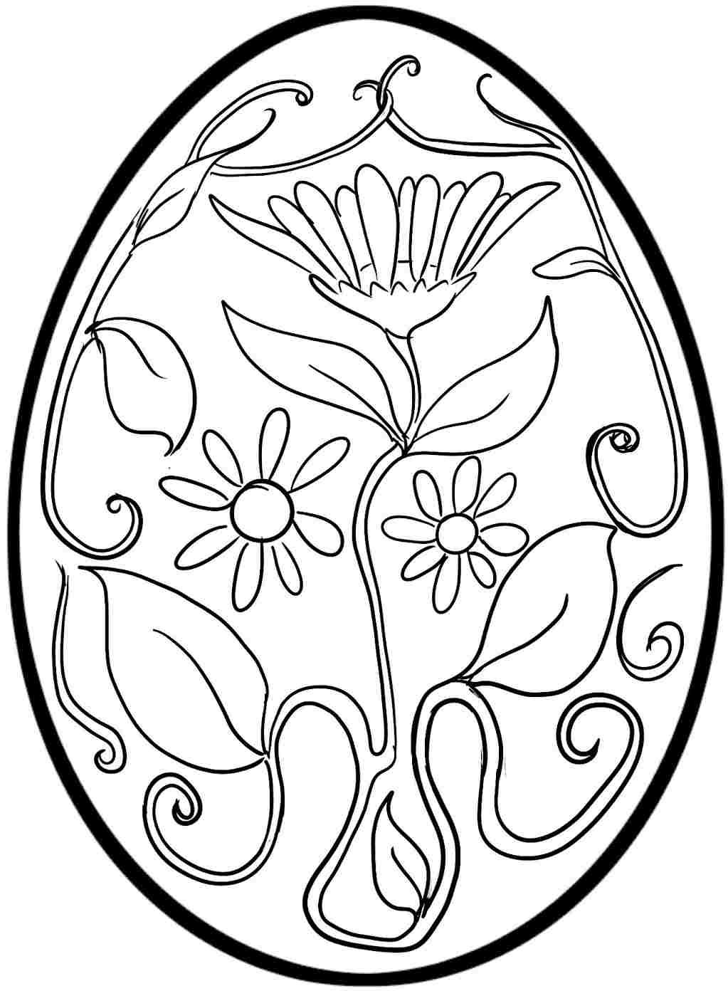 Easter Egg Colouring Pages Free For Kids Boys Coloring