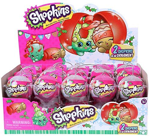 Full manufacturers case pack of 30 Shopkins Christmas Surprise 2-Pack (30x 2 pack ornaments for 60 Shopkins in total)! Just in time for Christmas! Each Christmas Ornament contains 2 random Shopkins. S...