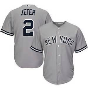 best service 78ca0 90c7a Derek Jeter #2 new York Yankees away jersey (grey) | My love ...