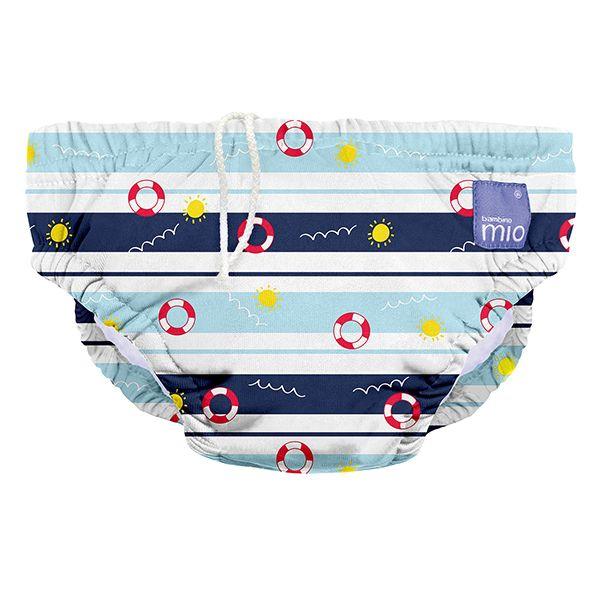 1-2 Years Bambino Mio Reusable Swim Nappy  Deep Sea Blue Large
