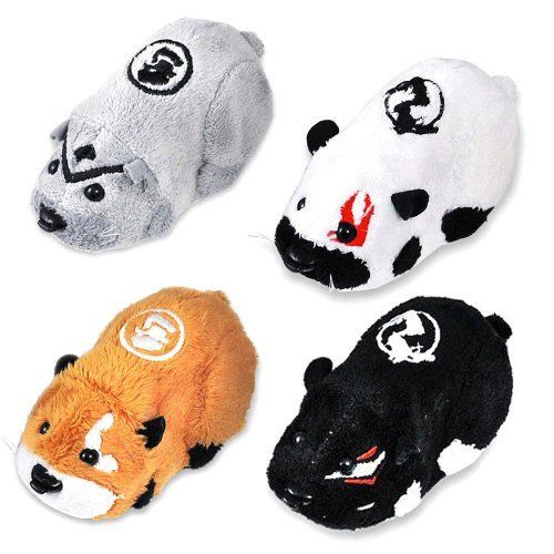 Kung Zhu Pet Battle Hamster Toy Set of 4 Ninja Warriors