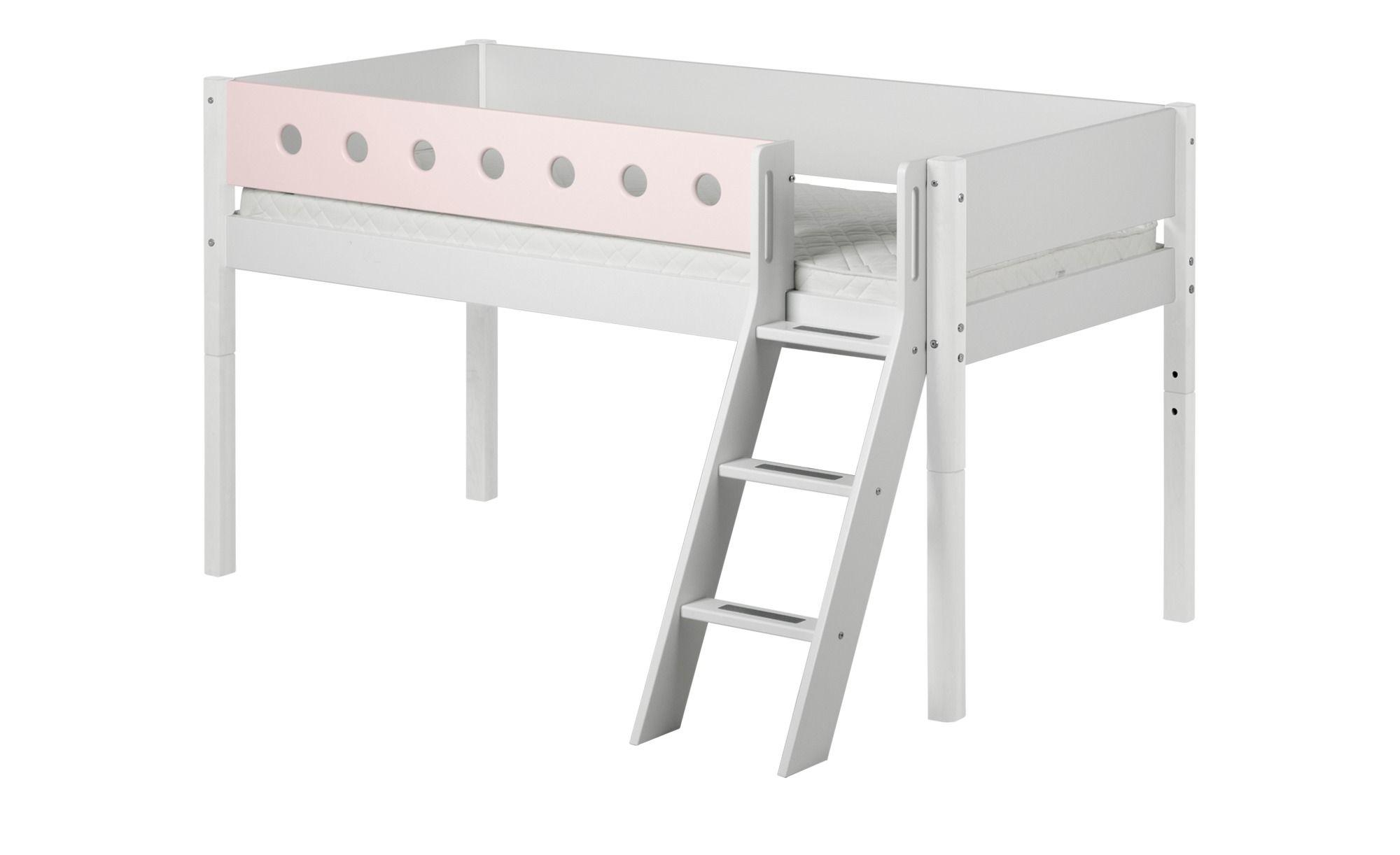 Flexa Halbhohes Bett 90x200 Weiss Flexa White Kinder Bett Kinderbett Bett Ideen