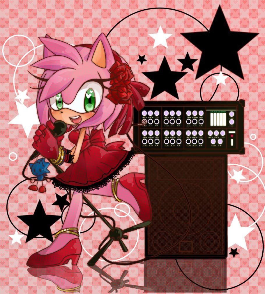 Amy la la la la amy rose amy sonic the hedgehog