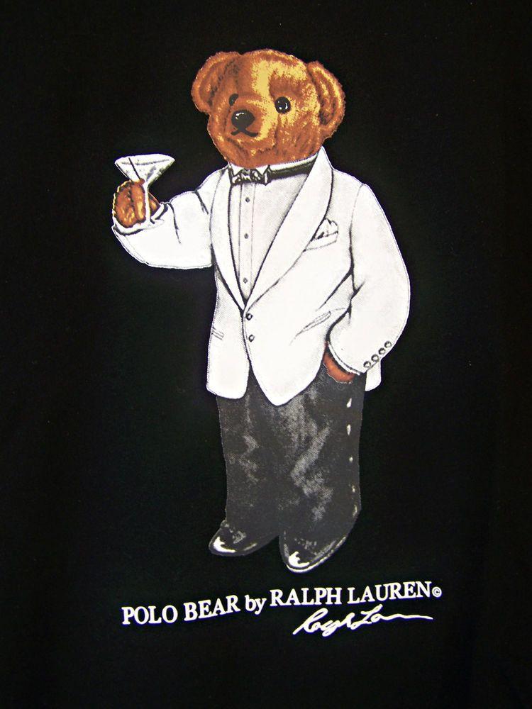 5ca0a2f9 Ralph Lauren Polo Bear T Shirt LT XLT 1XB 2XB 3XB Tuxedo Martini Black Tee  S/S #PoloRalphLauren #GraphicTee