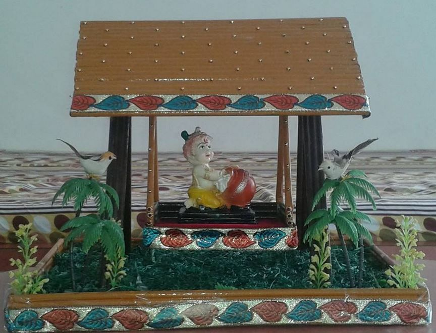 Card Making Ideas For Janmashtami Part - 37: Simple Janmashtami Decoration Ideas