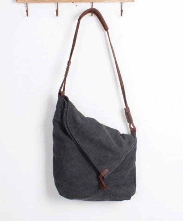 32 Segeltuch Leder Schultertasche Shopper Tasche | Shopper
